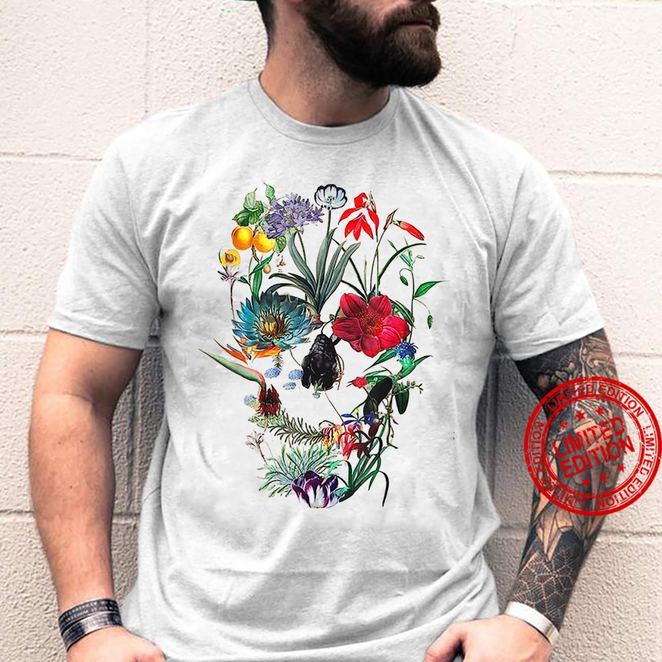 Flower Skull Tree Skull Floral Skull Shirt