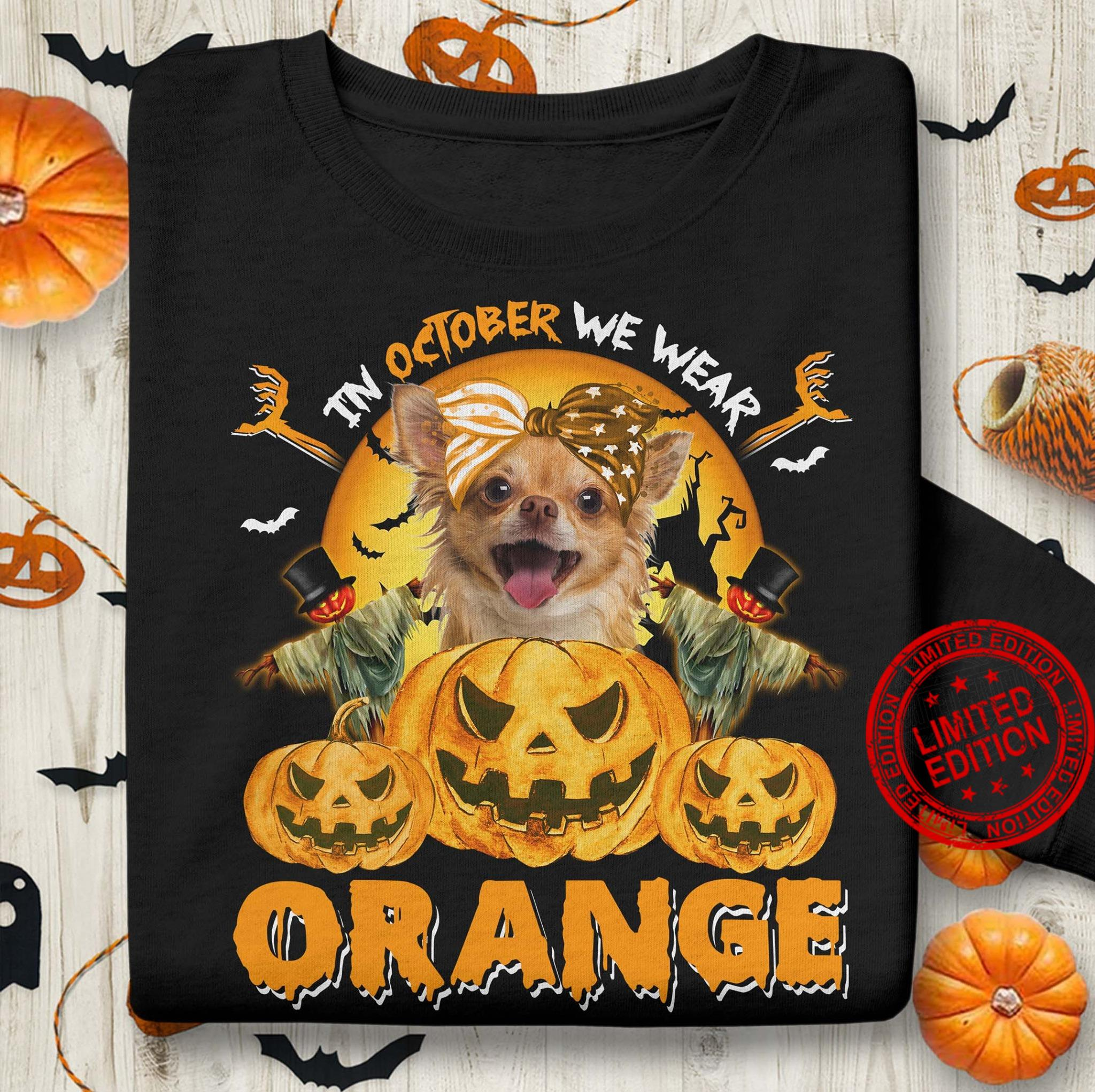 In October We Wear Orange Shirt