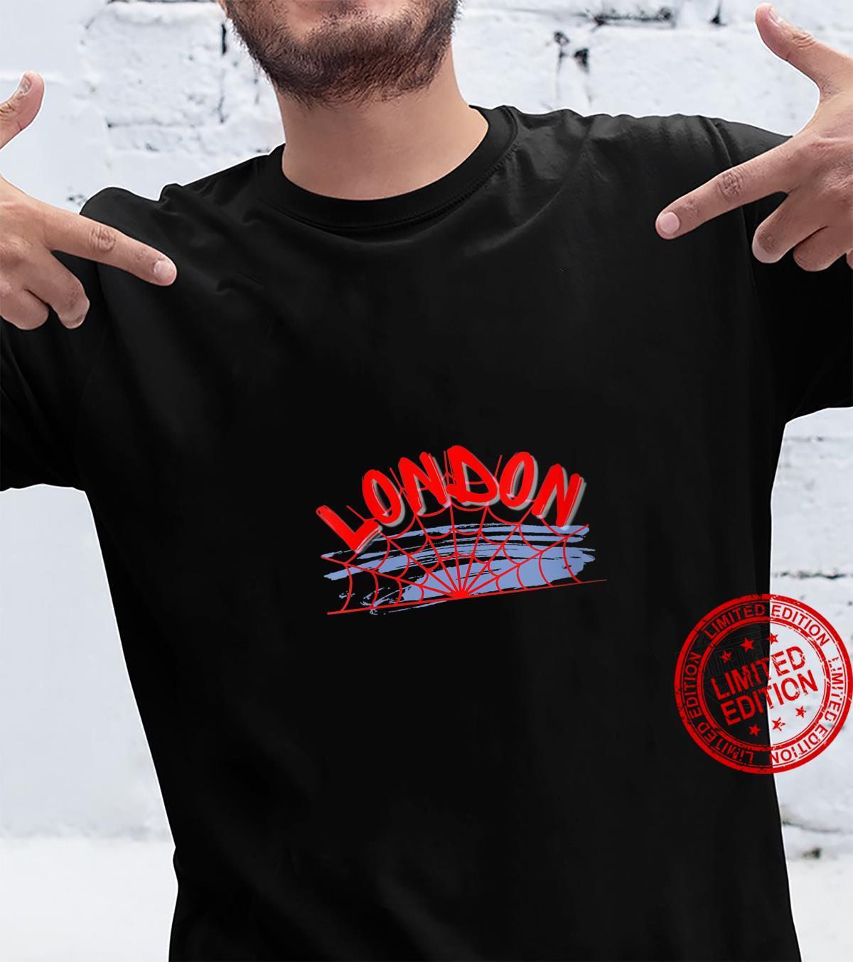Roadworking London England Spider Web Travel Tourist Shirt