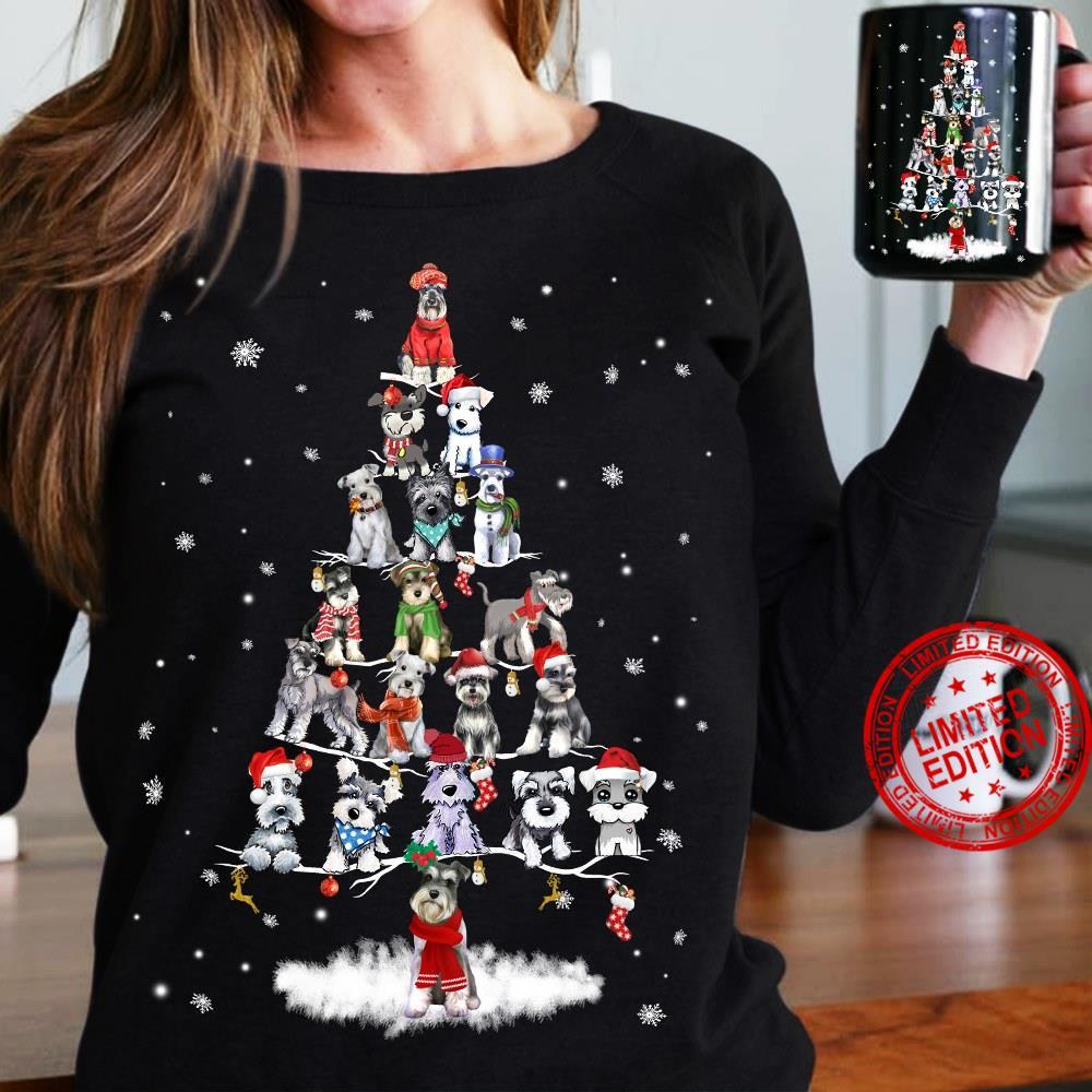 Yorkie Tree Christmas Shirt