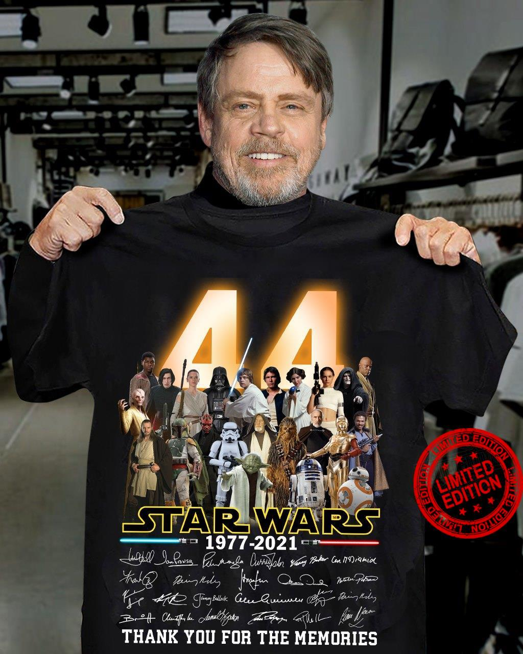 44 Years Of 1977-2021 Star Warts Thank You For The Memories Shirt