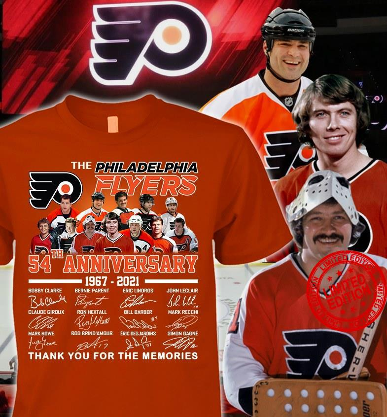 The Philadelphia Flyers 54th Anniversary 1967-2021 Thank You For ...